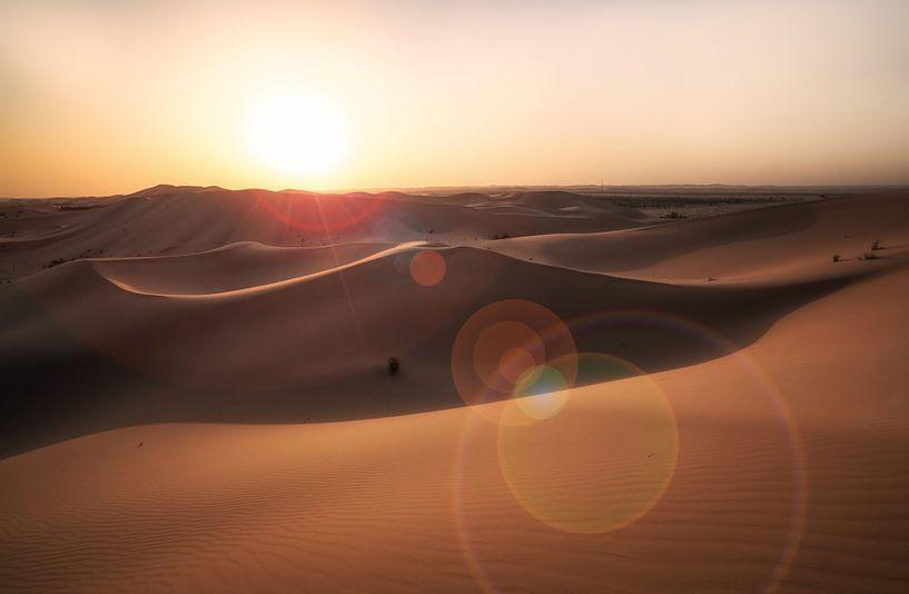 Desert sunset van Reinier Snijders