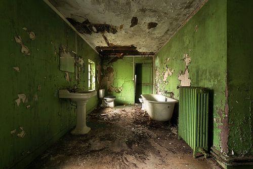 Verlaten Badkamer in Groen.