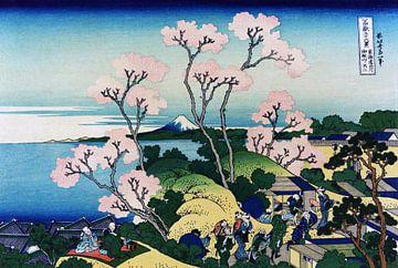 Die Goten-yama-Hügel, Shinagawa auf Tokaido, Japan von