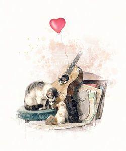Muzikale kattenfamilie van Meg Branca