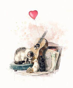 Musikalische Katzenfamilie von Studio Nooks