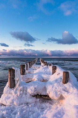 Winter on shore of the Baltic Sea