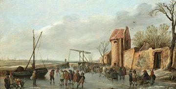 Eine Szene auf dem Eis, Jan van Goyen