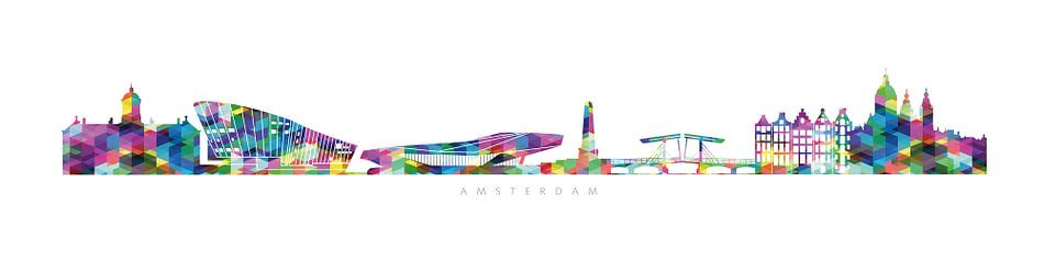 Amsterdam skyline van Harry Hadders