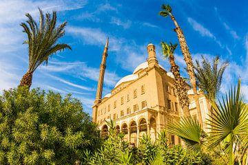 Citadel van Saladin met albasten moskee, Cairo, Egypte van Günter Albers