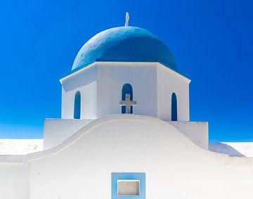 Blauwe Kerkkoepel Cycladen van