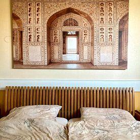 Klantfoto: Agra fort in India, Azië | Reis fotografie van Lotte van Alderen, op canvas