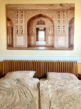 Klantfoto: Agra fort in India, Azië | Reis fotografie van Lotte van Alderen