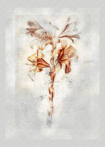 Fleurs dans le style de dessin 4