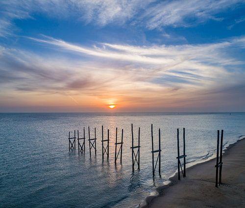 Steiger van Sil - zonsopkomst - Texel von Texel360Fotografie Richard Heerschap