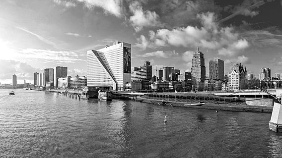 Rotterdam 'de boompjes' Black and White van Midi010 Fotografie