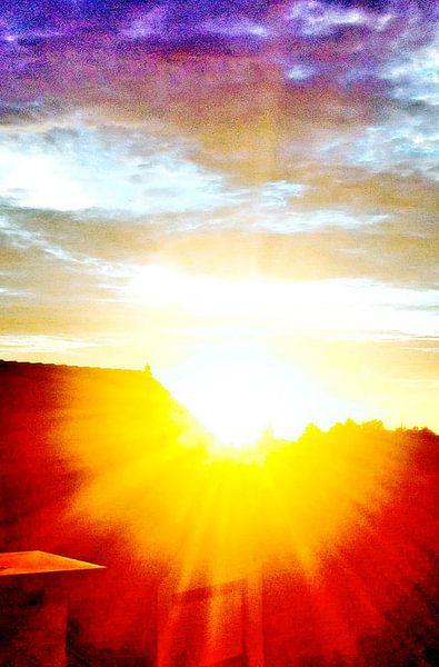 Sonnenaufgang van Annabella Rharbaoui