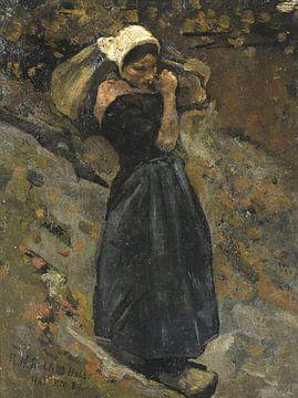 Bäuerin mit einem Sack, Richard Nicolaüs Roland Holst, 1889