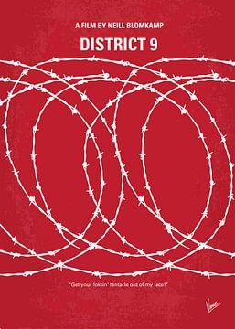 No023 My District 9 minimal movie poster van Chungkong Art