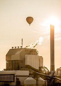 Luchballon boven Electrabel Nijmegen