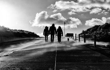 Après une promenade sur la plage de Texel sur Arjan Boer