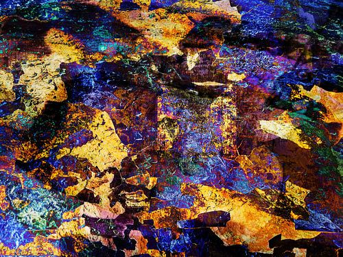 Modern, Abstract kunstwerk - When Time Stood Still van