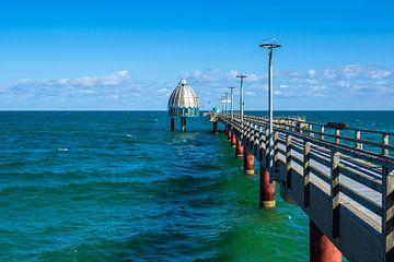 Seebrücke an der Ostseeküste in Zingst auf dem Fischland-Darß von Rico Ködder