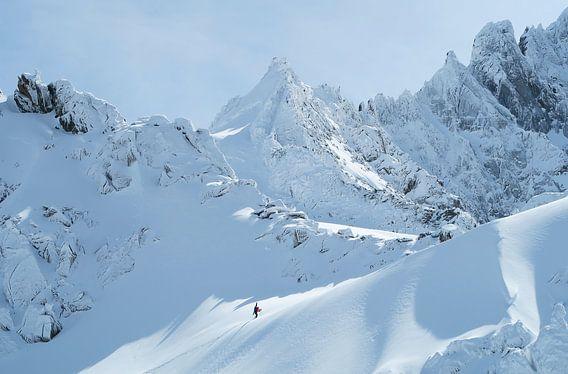 Winter-Solo-Bergsteiger Chamonix