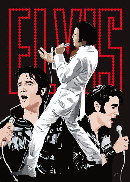 Elvis Presley - If I Can Dream van Jarod Art