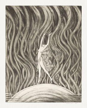 Tanzende nackte Frau, Hein von Essen (1926) von Atelier Liesjes