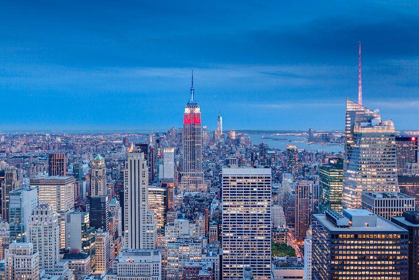 New York City Skyline van Tom Roeleveld