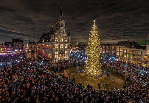 Gouda bij Kaarslicht in Nederland van