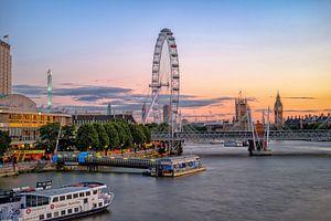 Coucher de soleil à Londres sur Johan Vanbockryck