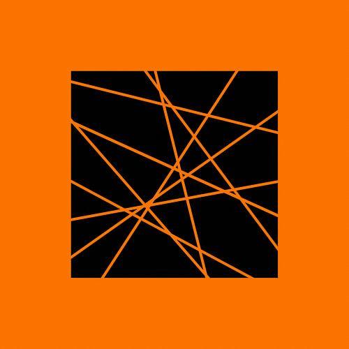 Abstrakt in Orange von