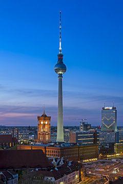 Skyline Berlijn van Heiko Lehmann