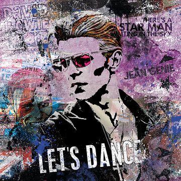 Bowie Let's Dance von Rene Ladenius Digital Art