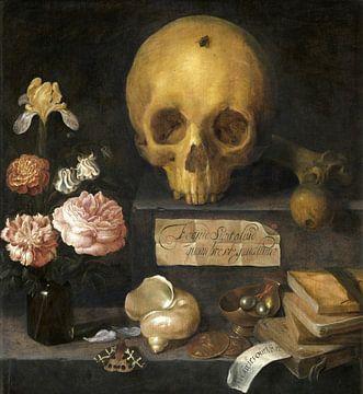 Vanitas Nature morte, Adriaen van Nieulandt sur