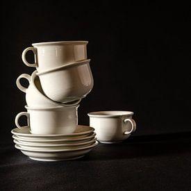 Stilleven , Koffietijd van Els Hattink