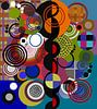 Composition abstraite 137 van Angel Estevez thumbnail