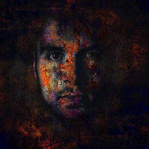 Digital Photo Art - Portrait of a Man mysterious dark