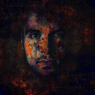 Digital Photo Art - Portrait of a Man mysterious dark sur