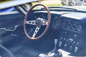 Lamborghini 350 GT Italiaanse klassieke sportwagen interieur