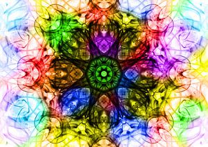 Smoke Art - Meerkleuren wiel