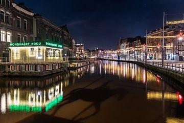 Avondklok in Amsterdam - Rokin Amsterdam van Renzo Gerritsen
