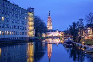 Grote Kerk Breda vanaf de singel van Tom Hengst