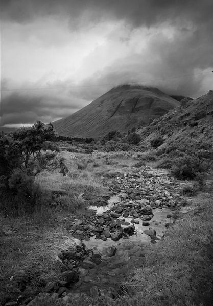 Stream and Cloudy mountain at the Auch Estate
