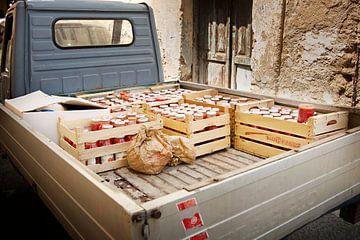 Vrachtwagen met tomatensaus van Maren Oude Essink