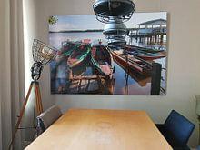 Kundenfoto: Boote auf dem Fluss Suriname, Suriname von Marcel Bakker, als poster