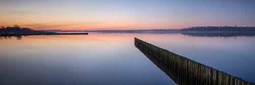 Vlak voor zonsopkomst Lauwersmeer