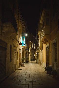Verlassene maltesische Straße von Winfred van den Bor