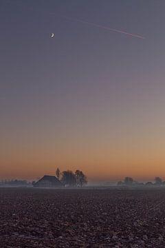 Maan bij zonsondergang von Piet Ritzema