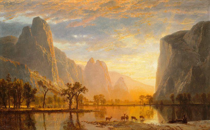 Albert Bierstadt. Valley of the Yosemite von 1000 Schilderijen