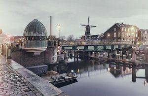 Catharijnebrug Haarlem blue hour.