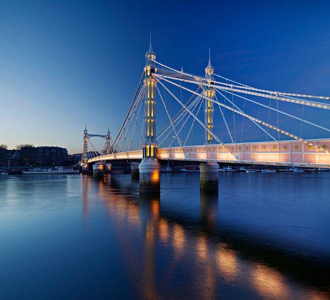 De Albert Bridge, Londen van David Bleeker