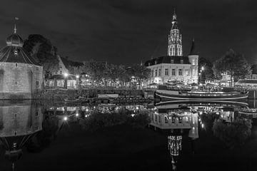 Breda, Haven, Spanjaardsgat zwart wit van Andre Gerbens
